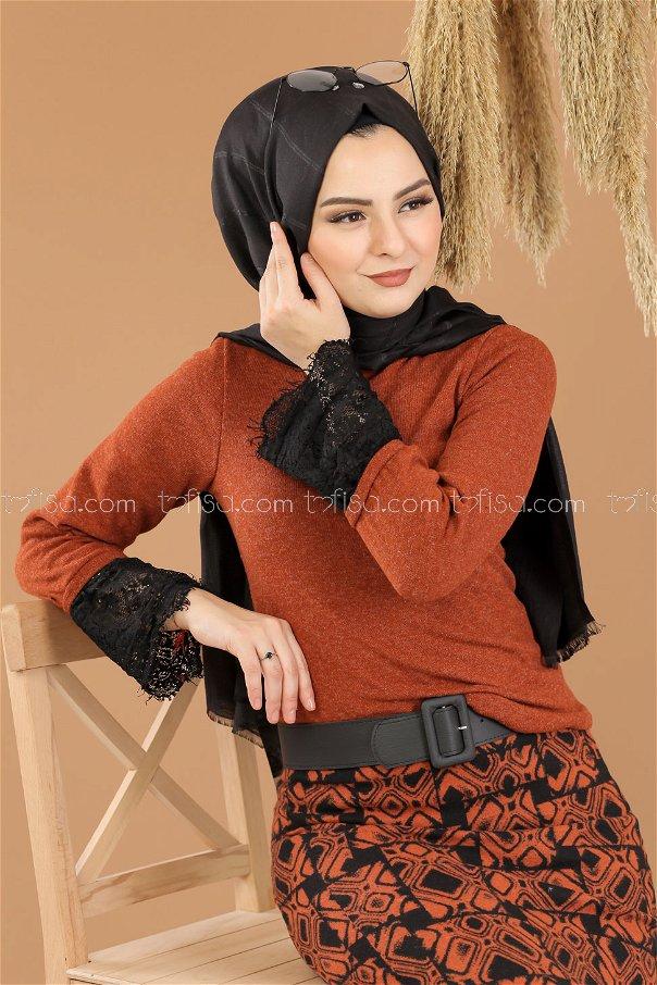 2 pieces Blouse Skirt Combine Orange - 8289