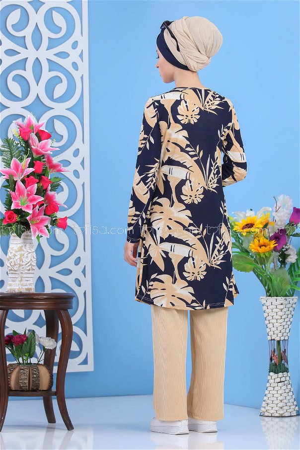 ( 2 pieces ) ** Cardigan and Pants navy blue - 03 5150