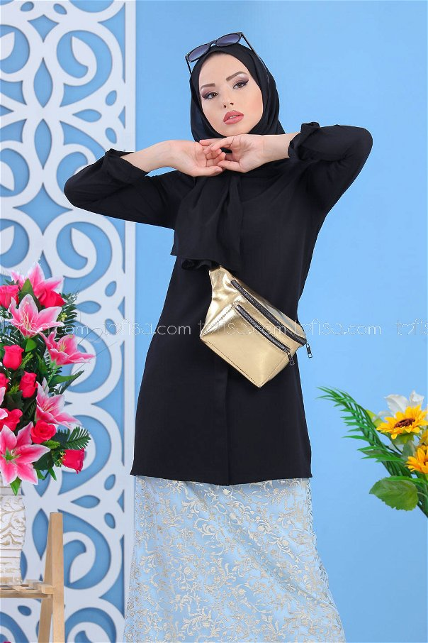 ( 2 pieces ) ** Skirt and bag Combine blue Gold - 02 7462