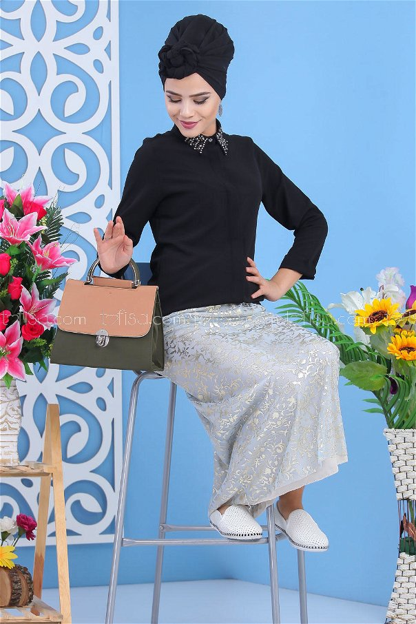 ( 2 pieces ) ** Skirt And bag Combine mink - 02 7549