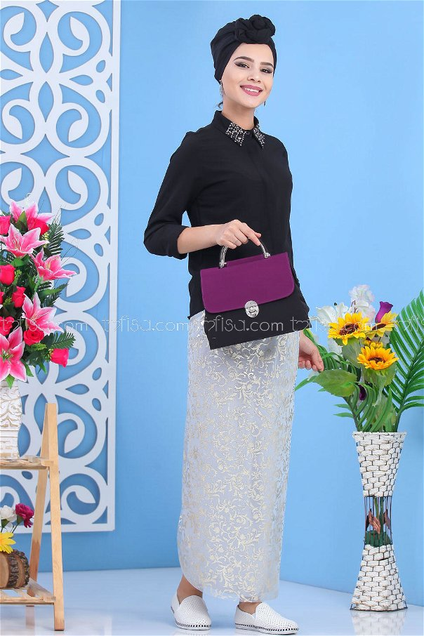 ( 2 pieces ) ** Skirt And bag Combine Purple - 02 7549