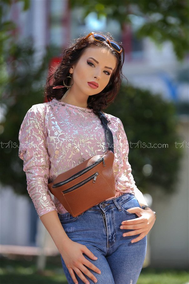 ( 2 pieces ) ** Tulle Tunic and bag Combine Powder orang - 02 7469