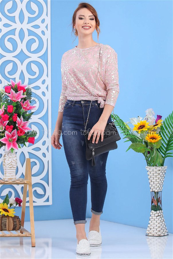 ( 2 pieces ) ** Tunic and bag Combine black 02 7552