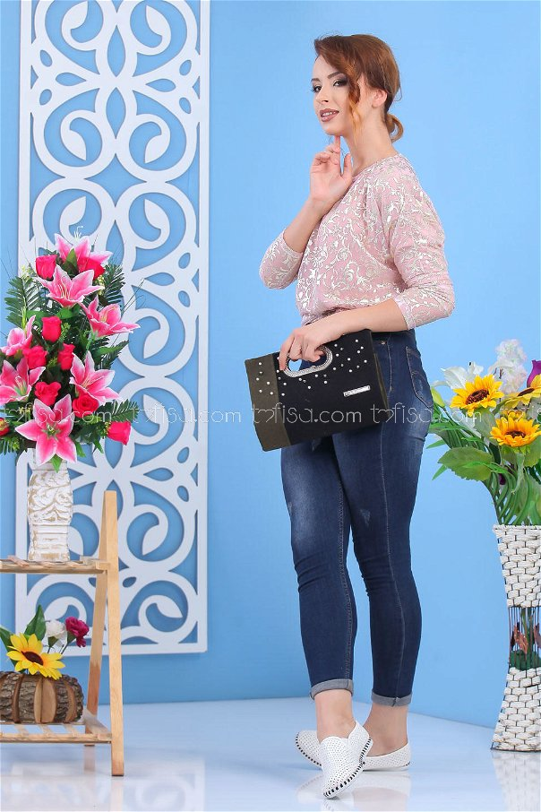 ( 2 pieces ) ** Tunic and bag Combine black 02 7554