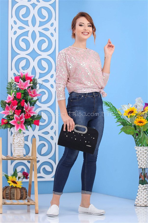 ( 2 pieces ) ** Tunic and bag Combine black 02 7555