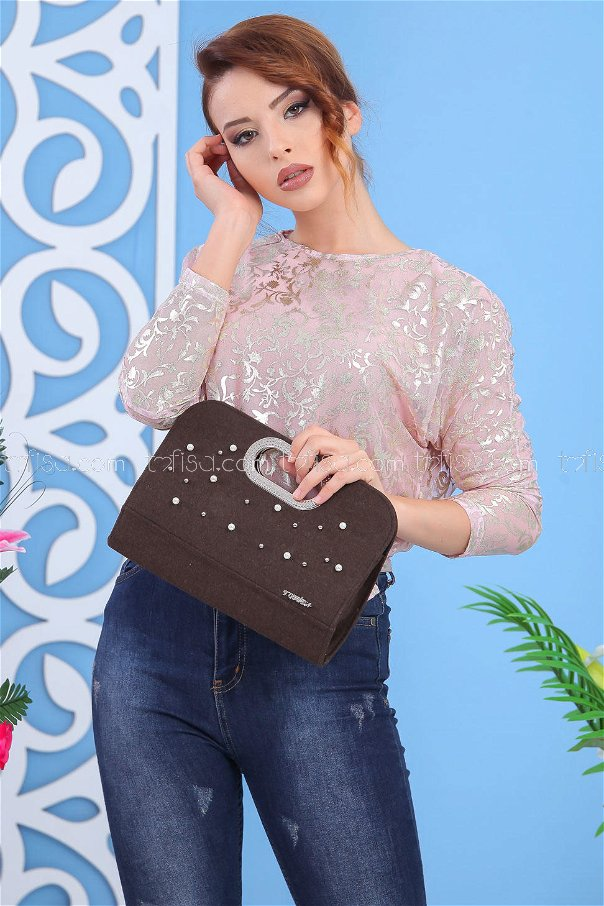 ( 2 pieces ) ** Tunic and bag Combine brouwn dark 02 7555