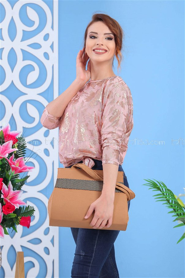 ( 2 pieces ) ** Tunic and bag Combine mink 02 7550