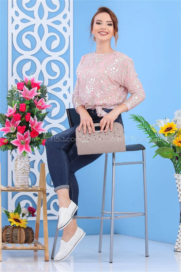 ( 2 pieces ) ** Tunic and bag Combine mink 02 7555