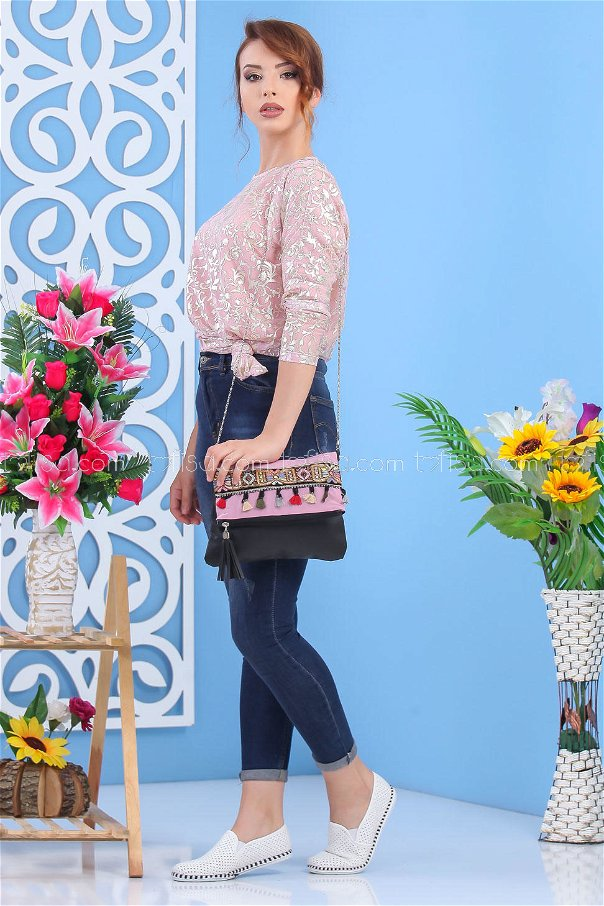 ( 2 pieces ) ** Tunic and bag Combine powder 02 7553