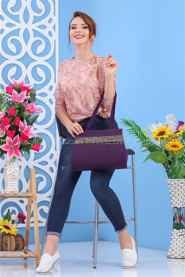 ( 2 pieces ) ** Tunic and bag Combine Purple 02 7550