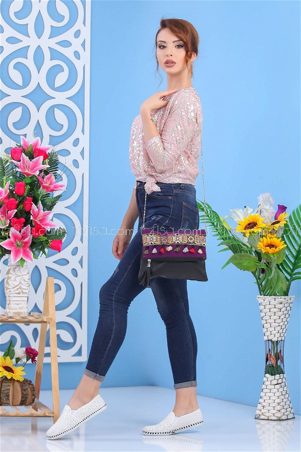 ( 2 pieces ) ** Tunic and bag Combine Purple 02 7553