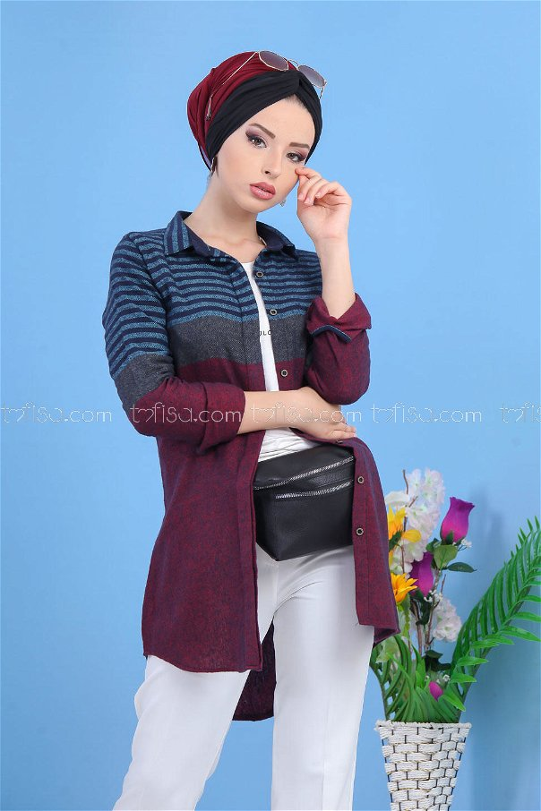 ( 2 pieces ) ** Tunic and bag Minter black - 02 7477