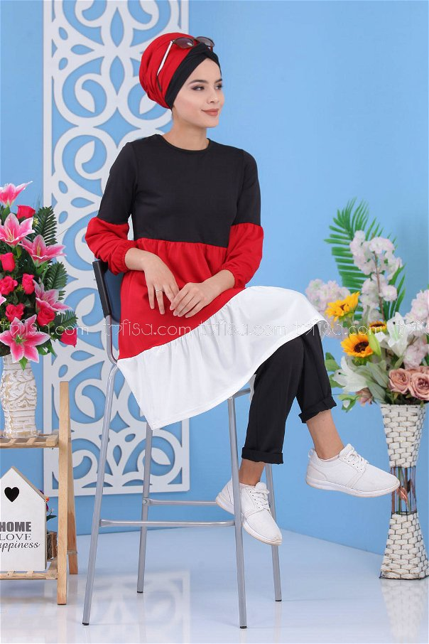 ( 2 Pieces )** Tunic and pants Black - 02 7245
