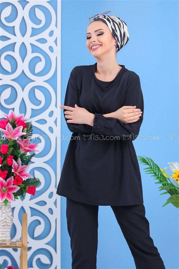 ( 2 pieces ) ** Tunic and pants black - 02 7530