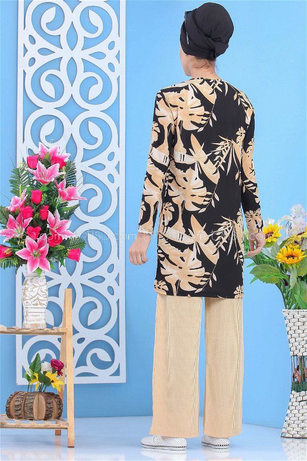 ( 2 pieces ) ** Tunic and pants black - 03 5153