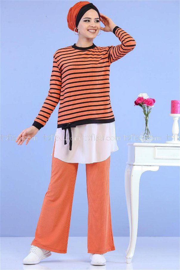 ( 2 Pieces ) ** Tunic and Pants brick- 02 6844