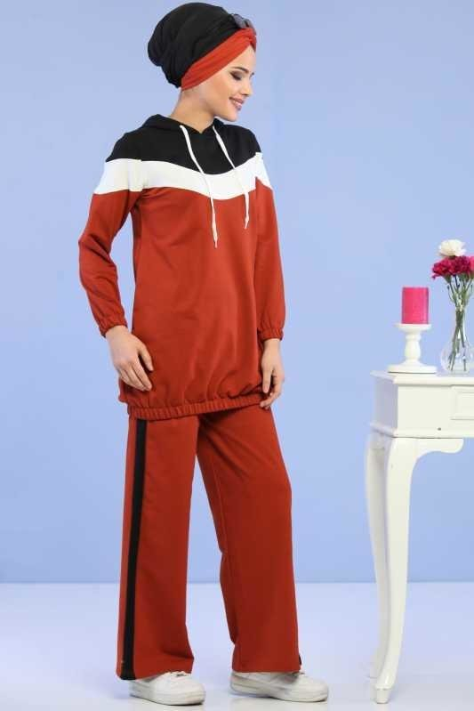 ( 2 Pieces ) Tunic and pants Combine - orang 02 6690