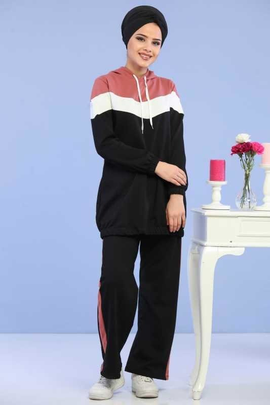 ( 2 Pieces ) Tunic and pants Combine - Pembe 02 6690