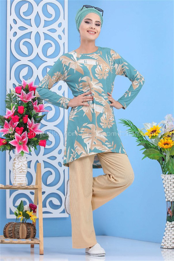 ( 2 pieces ) ** Tunic and pants green - 03 5153