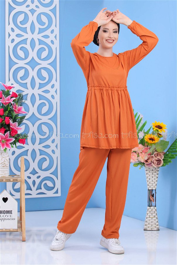 ( 2 Pieces )** Tunic and pants Mustard - 02 7304