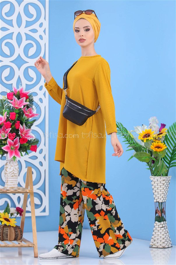 ( 2 pieces ) ** Tunic and pants Mustard - 02 7557