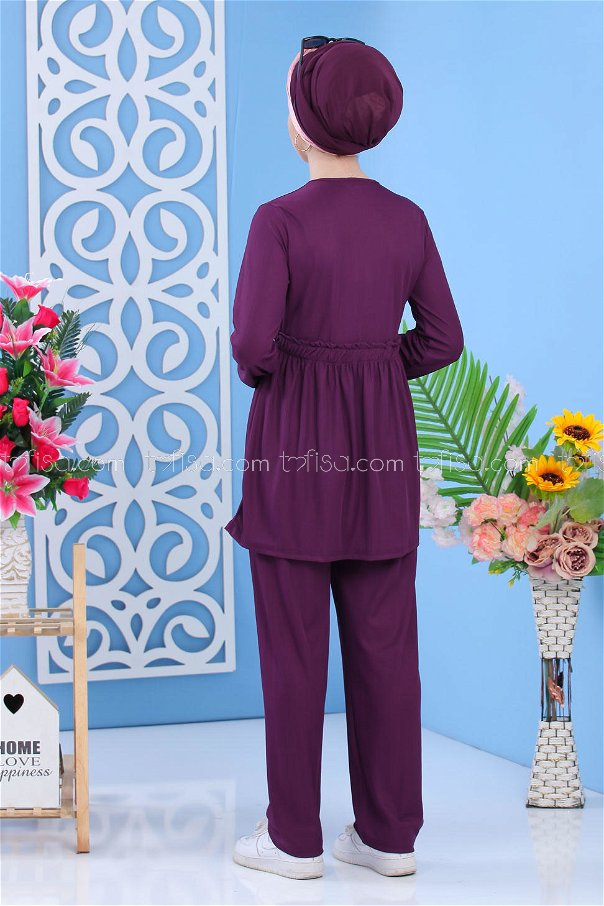 ( 2 Pieces )** Tunic and pants Purple - 02 7304
