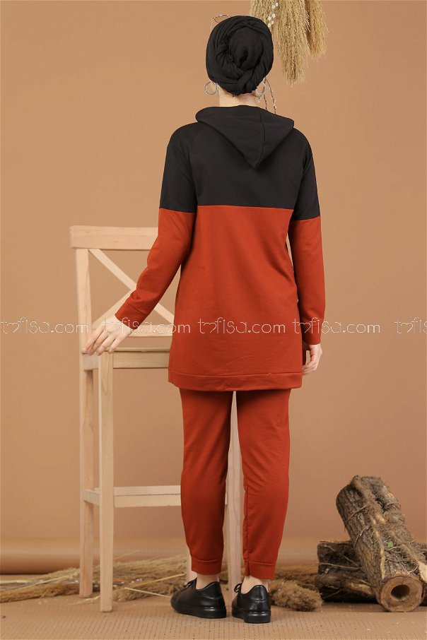( 2 pieces ) ** Tunic Hooded and Pants orange - 8221