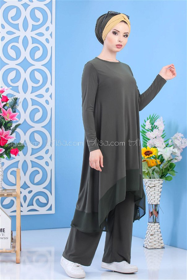 (2 pieces)** TUNIC PANTS OILY-02 7342