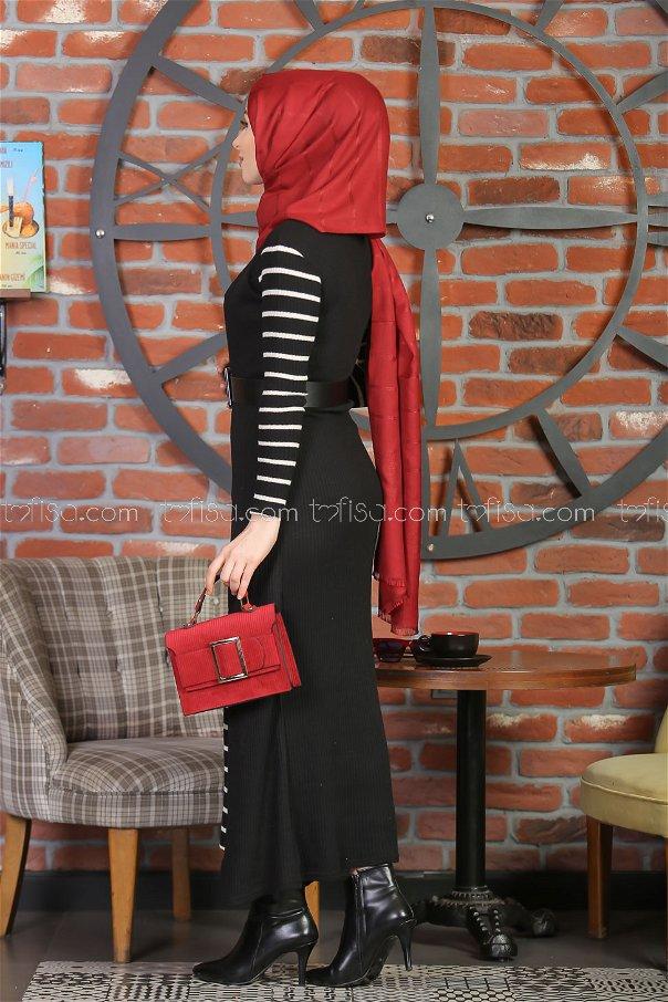 2 pieces Vest Dress and pants black - 3013