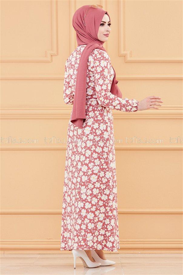 فستان زهرة وردي- 20005