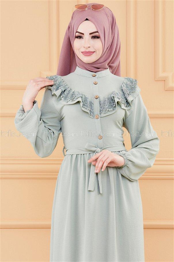 فستان لون ازرق فاتح 20027