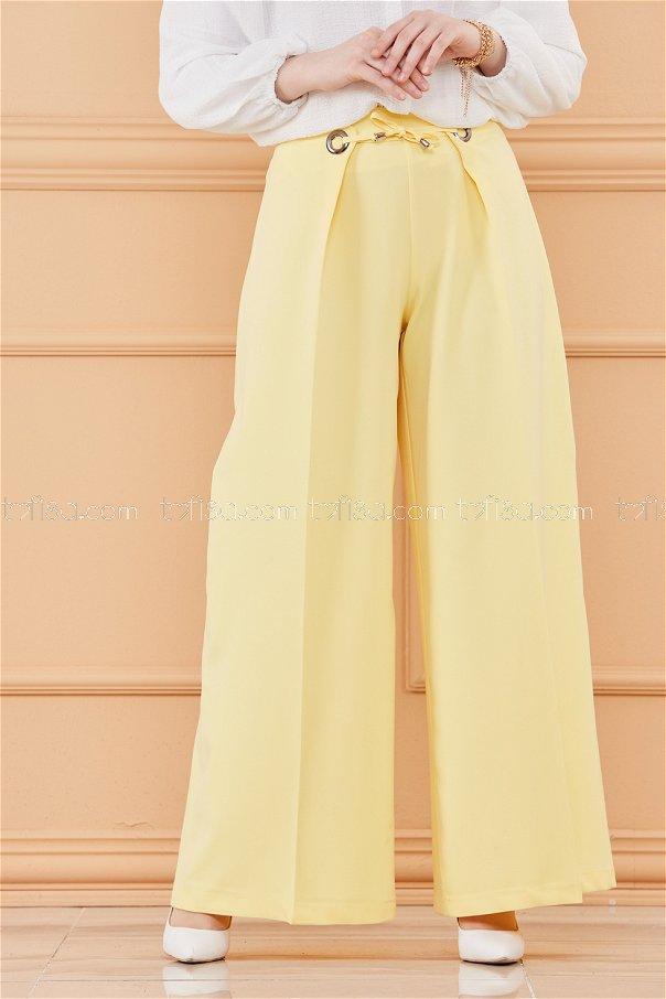 بنطلون لون اصفر 20044