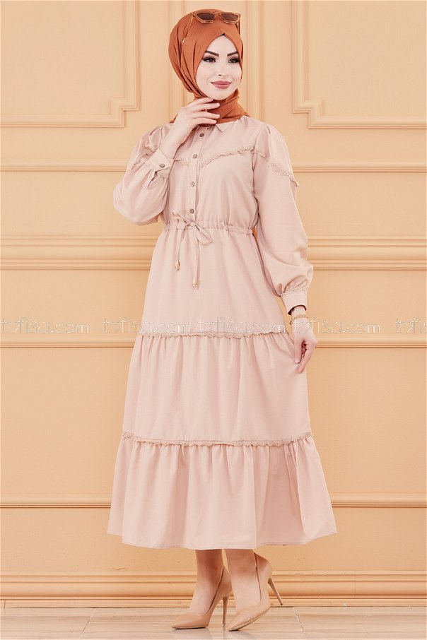 فستان لون بيج 20070