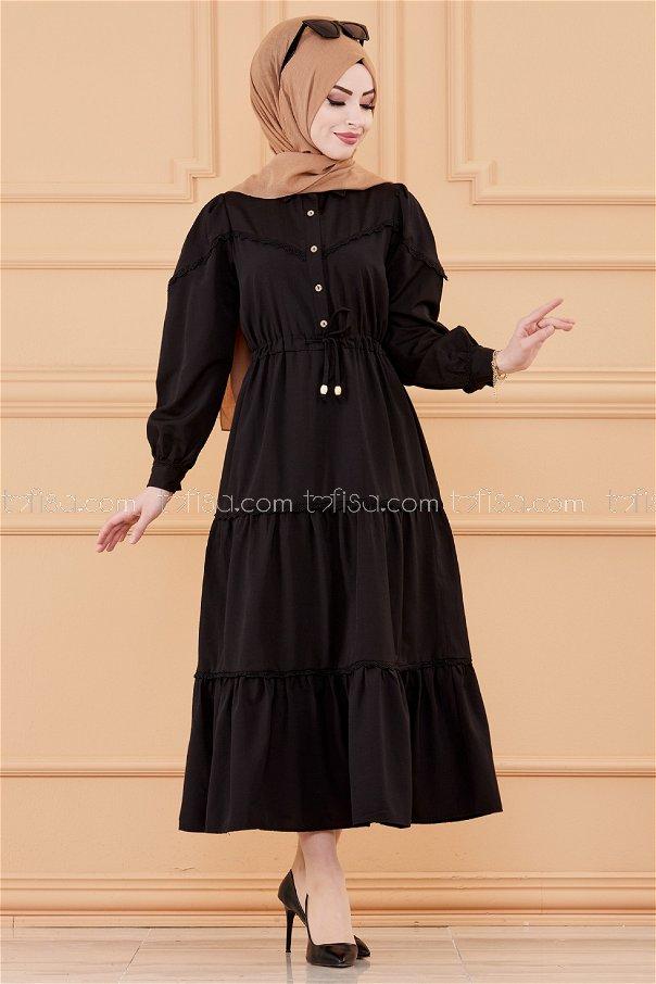فستان لون اسود 20070