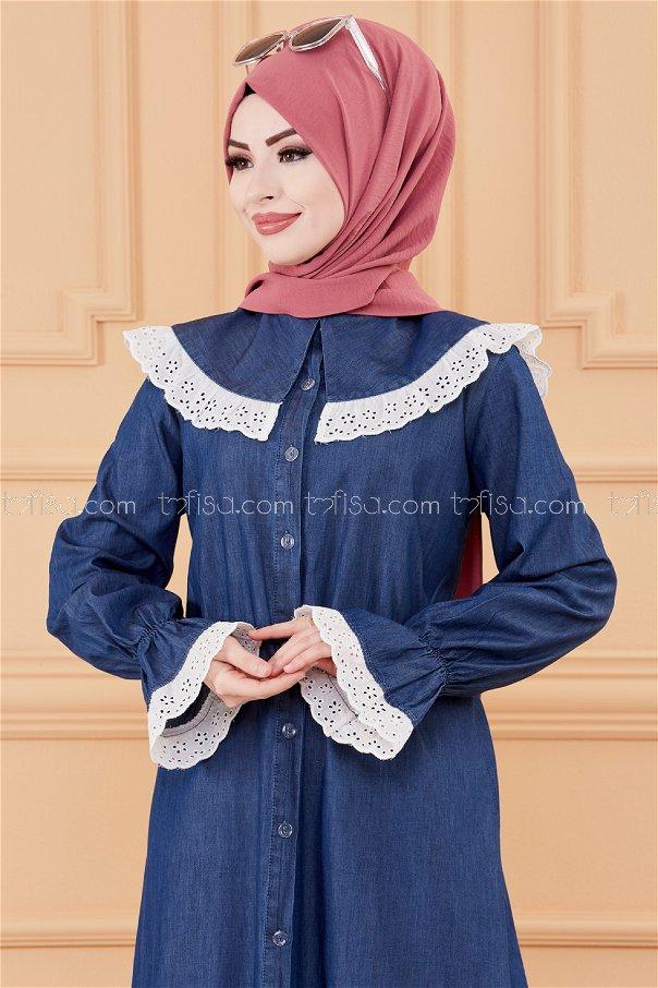 فستان جينز لون كحلي 20079