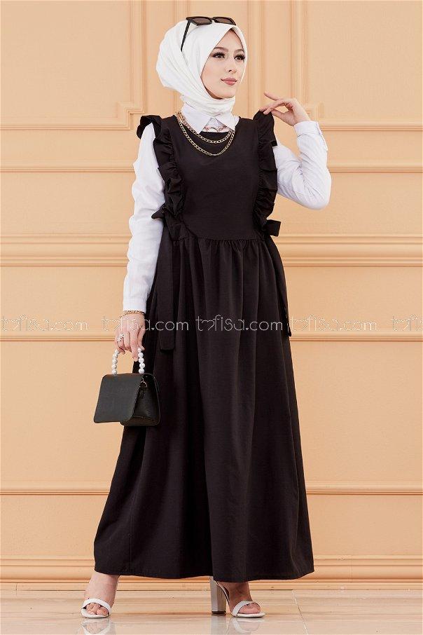 فستان لون اسود 20088