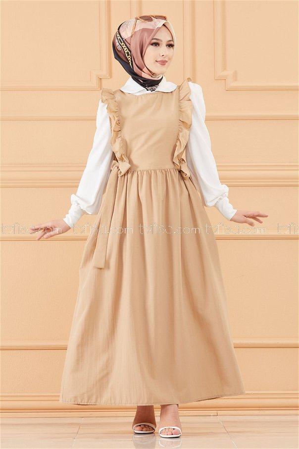 فستان لون بيج 20088