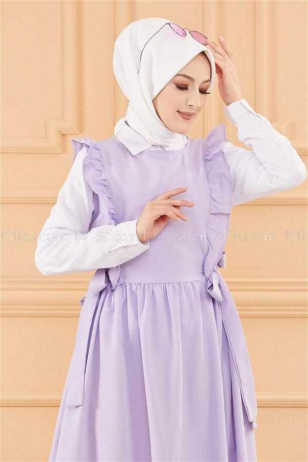 فستان لون ليكي 20088