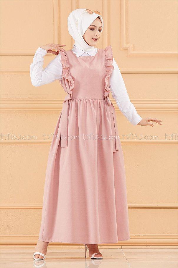 فستان لون وردي 20088