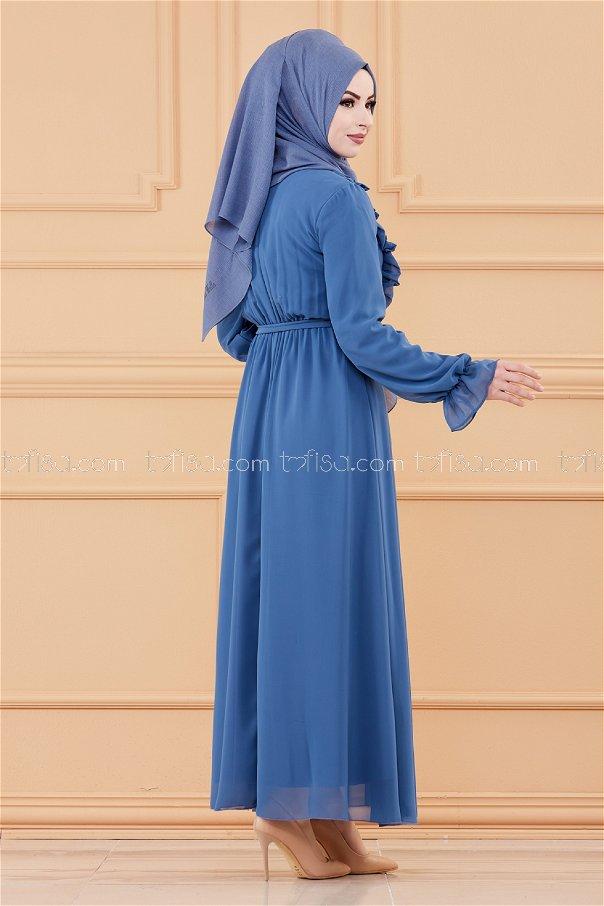 فستان لون ازرق داكن 20103
