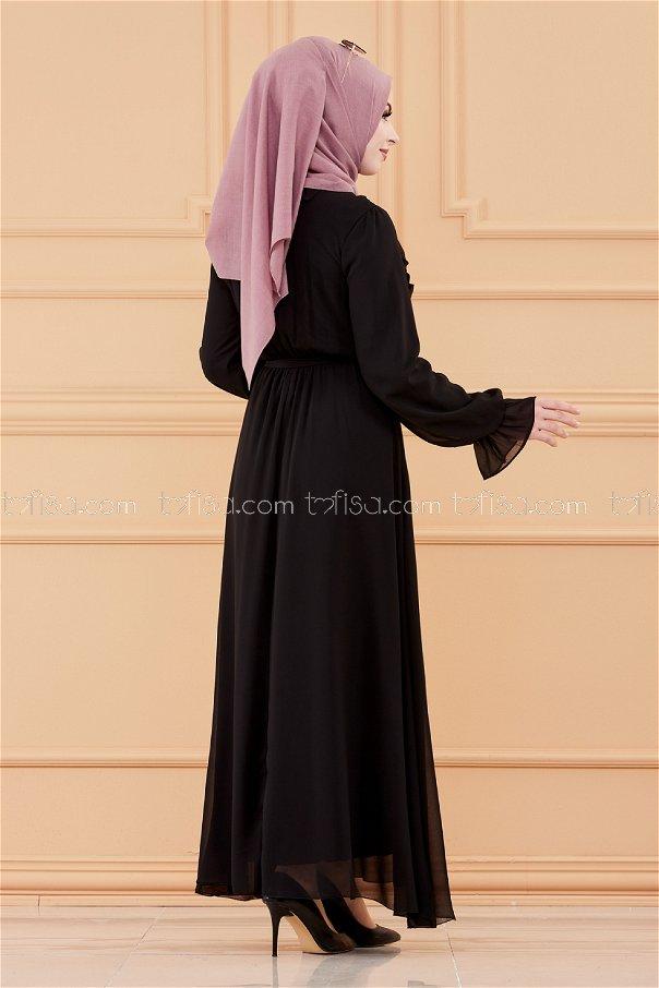 فستان لون اسود 20103