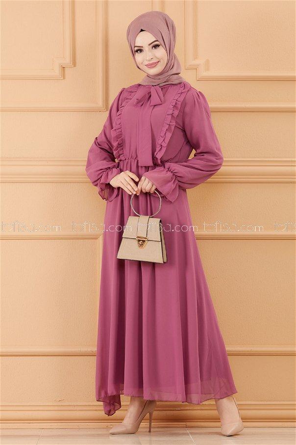 فستان لون ليكي 20103