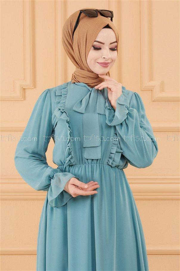 فستان لون ازرق فاتح 20103