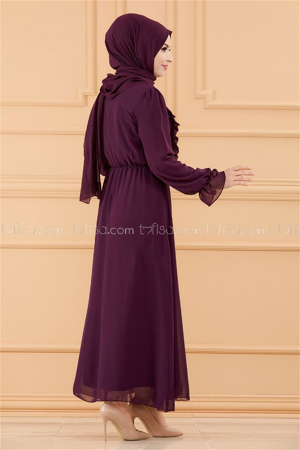 فستان لون موف 20103