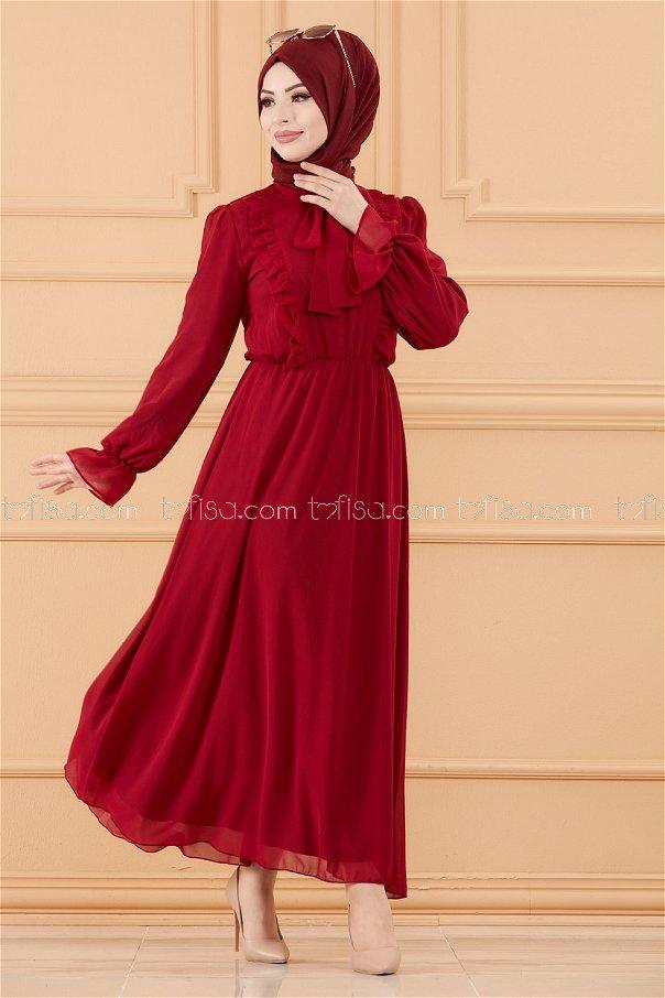 فستان لون خمري 20103