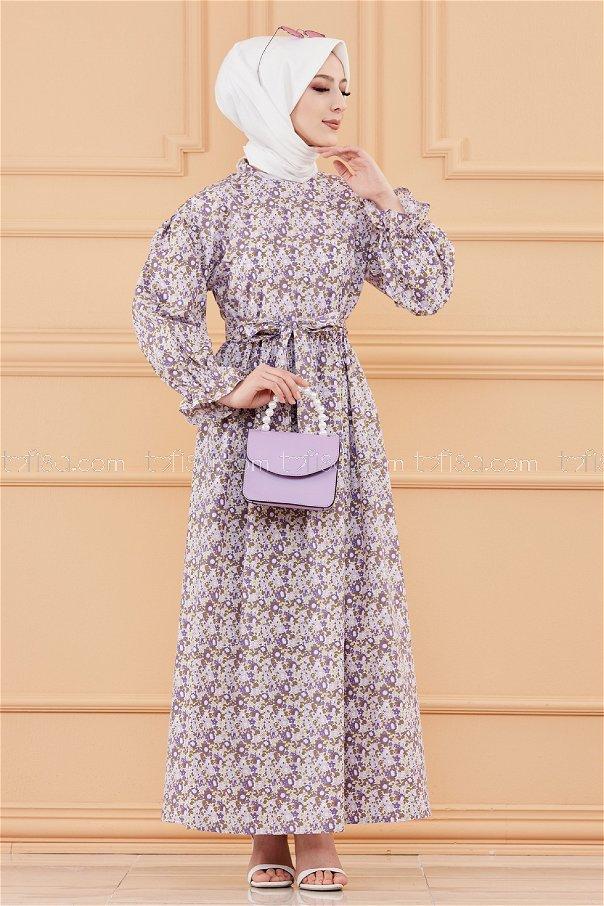 فستان لون موف 20107
