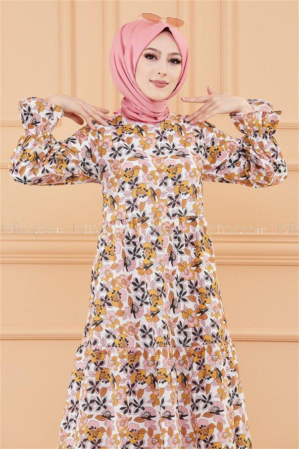 فستان لون وردي 20108