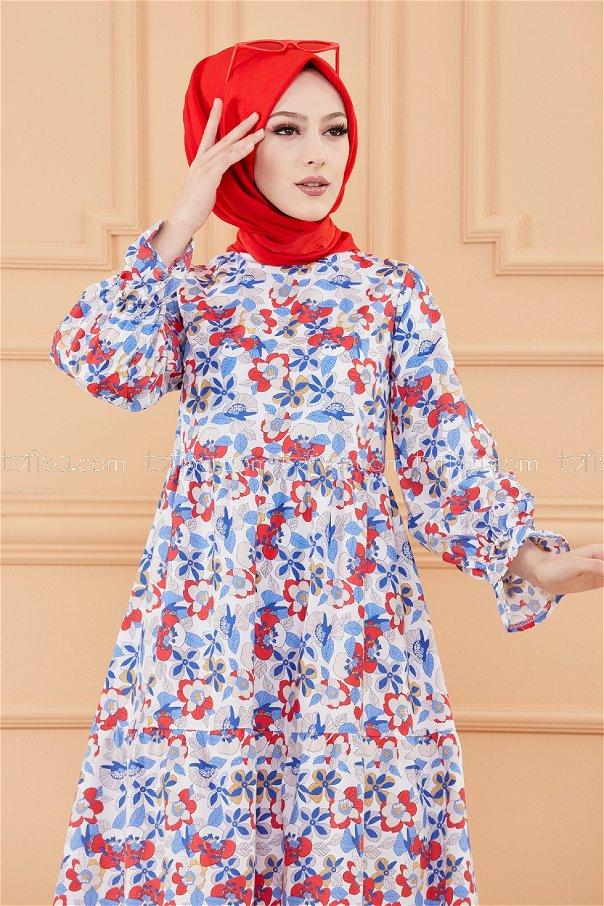 فستان لون ازرق داكن 20108