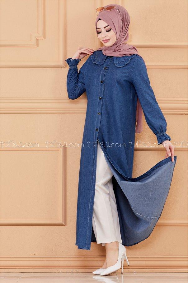فستان جينز لون كحلي 20112