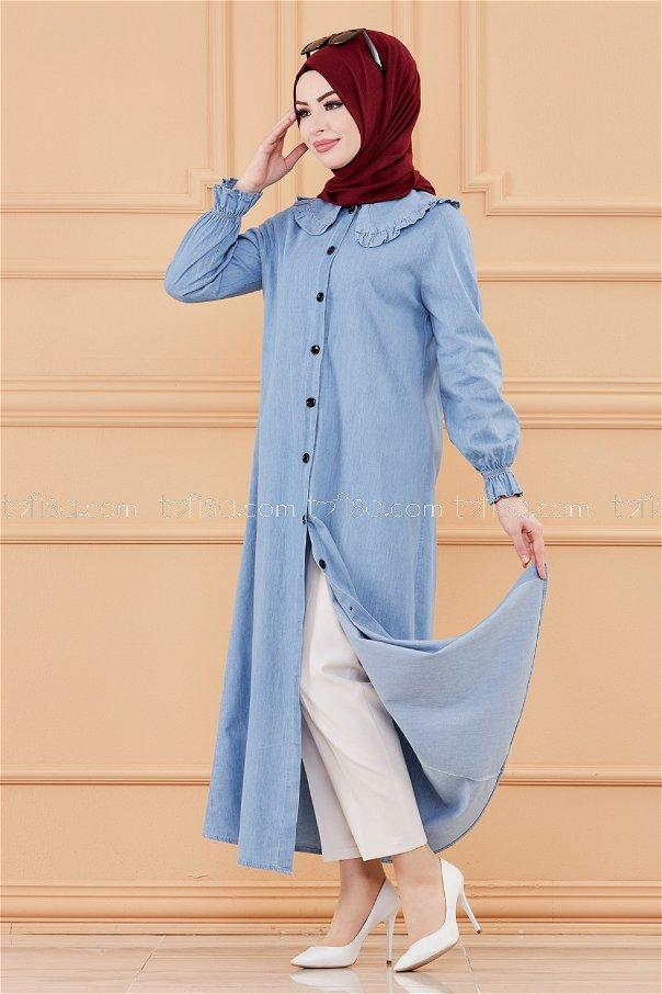 فستان جينز لون ازرق 20112